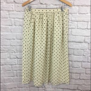 Vintage Polka Dot Midi Skirt